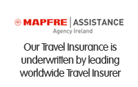 Travel Insurance Underwritten by leading worldwide Travel Insurer Mapfre
